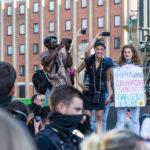 Demo gegen die Corona Maßnahmen der Regierung in Köln