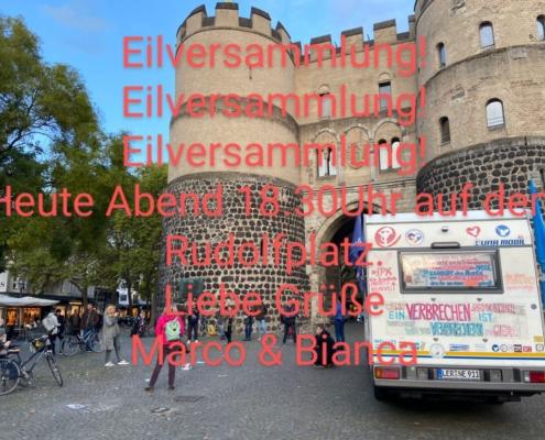 23.10.2020 - Eilversammlung auf dem Rudolfplatz in Köln