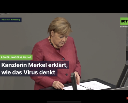 Psycho Merkel erklärt wie das Corona Virus denkt