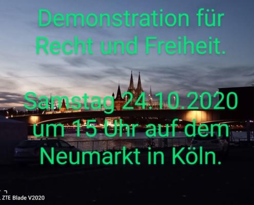 Demonstration für Recht und Freiheit