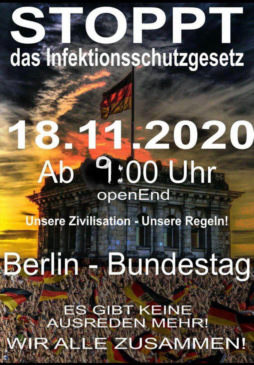 18.11.2020 in Berlin - Sag NEIN zum Ermächtigungsgesetz