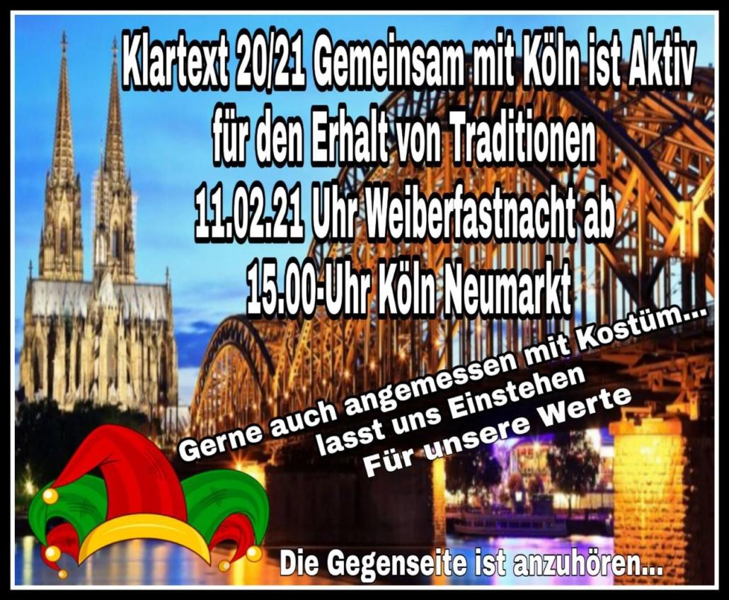 11.02.2021 Demo in Köln